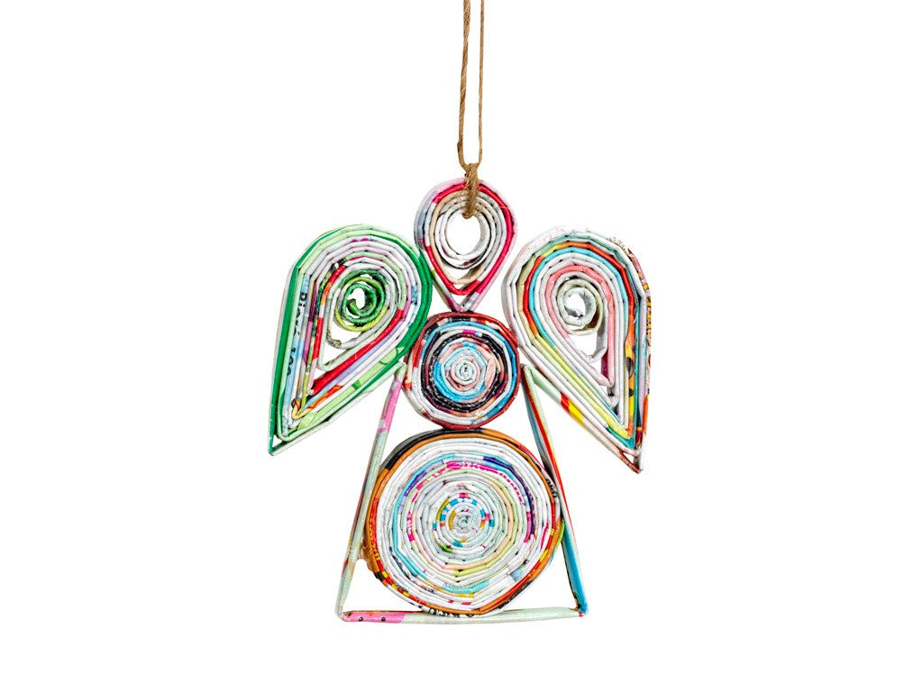 Angel Recycled Paper Ornament