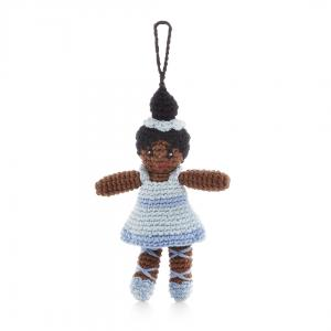 Ballerina in Blue Tutu- Crochet Christmas Tree Ornament