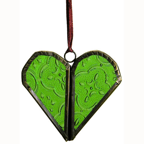Recycled Glass Heart Ornament - fairtribe