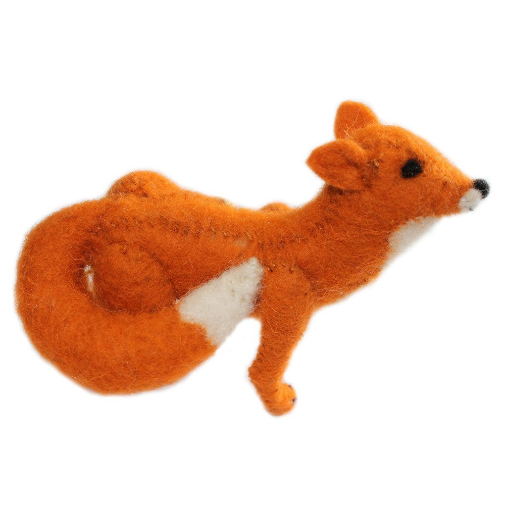 Fox Fair Trade Felt Tree Ornament - fairtribe