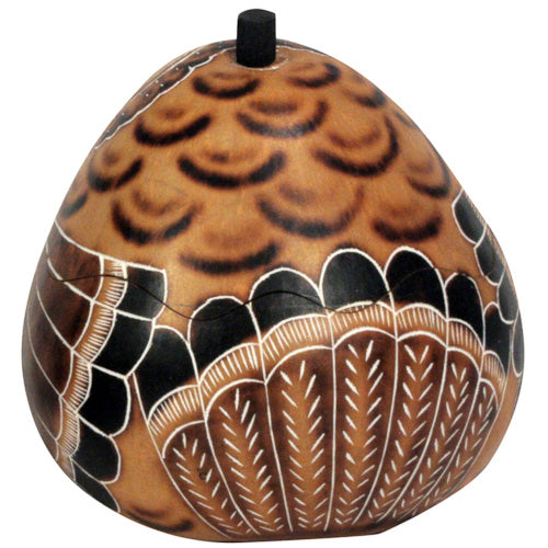 Small Turkey Gourd Box from Peru - fairtribe