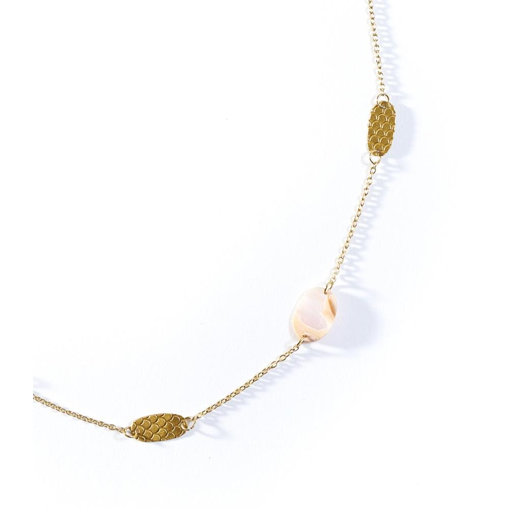Dhavala Necklace | Pearl Coin
