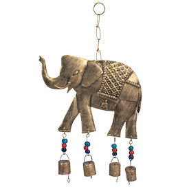 Recycled Metal Elephant Wind Chime