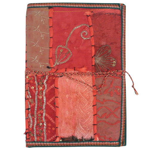 Large Earth Tone Journal made of Recycled Saris - fairtribe