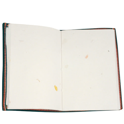 Large Yellow Journal made of Recycled Saris - fairtribe