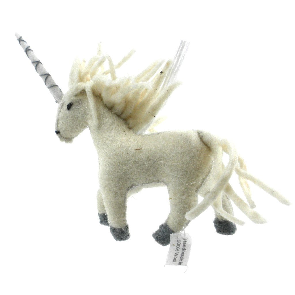 Unicorn Felt Ornament - Silk Road Bazaar (O) - fairtribe