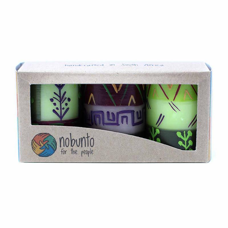 Hand Painted Candles in Kileo Design (box of three) - Nobunto - fairtribe