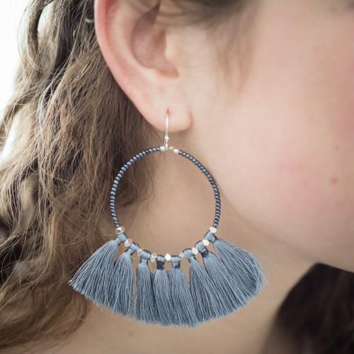The Dreamer Earring, Steel - Aid Through Trade - fairtribe