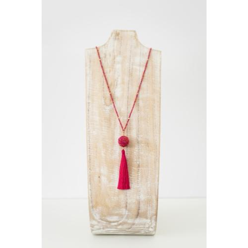 The Wanderer Tassel Necklace, Carousel - Aid Through Trade - fairtribe