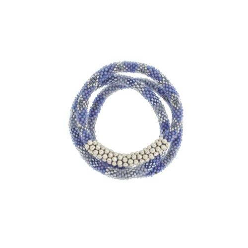 Set of 3 -Statement Roll-On Bracelets - Blue Boardwalk - fairtribe