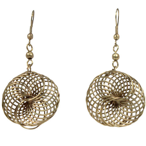 Bronze Interwoven Wire Earrings - fairtribe