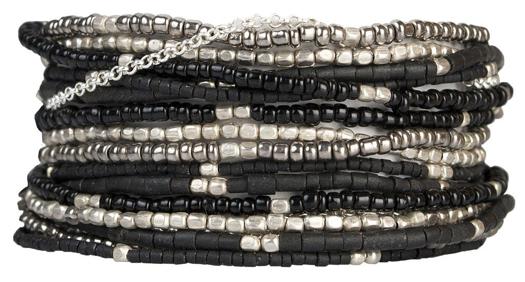Wrap Bracelet: Lauren Midnight - Marquet (J) - fairtribe