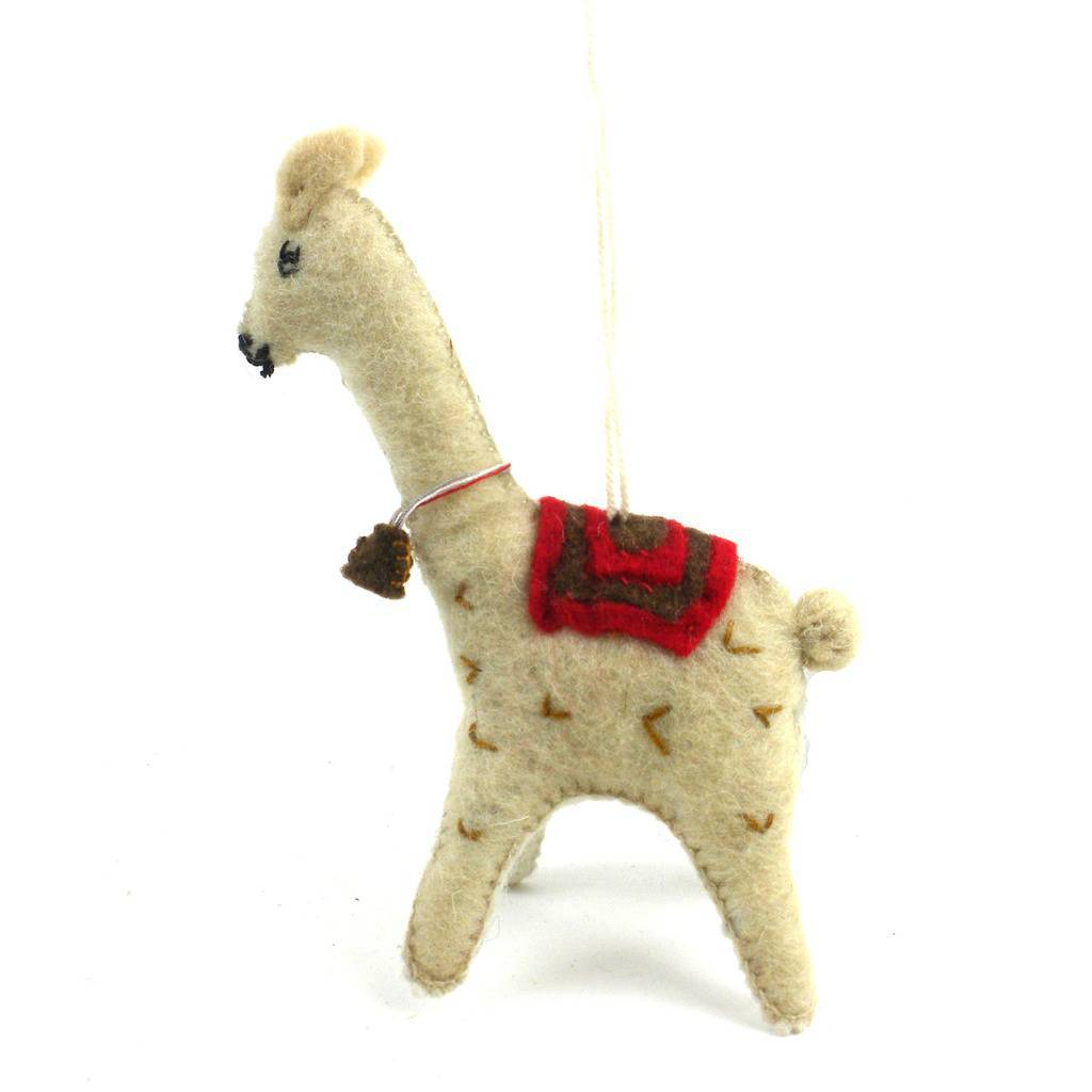 Felt Llama Christmas Tree Ornament - fairtribe