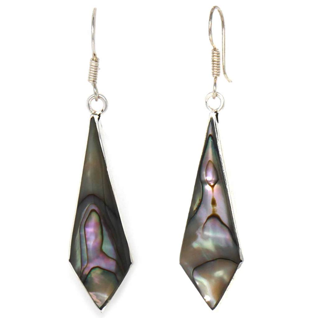 Abalone Shell | Diamond Shaped | Dangle Earrings