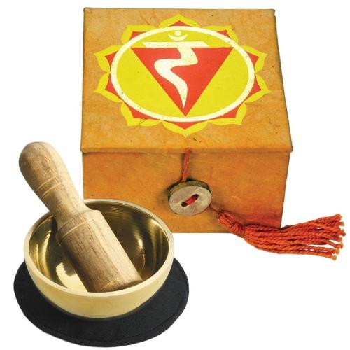 "Mini Meditation Bowl Box|  2"" Solar Plexus Chakra"
