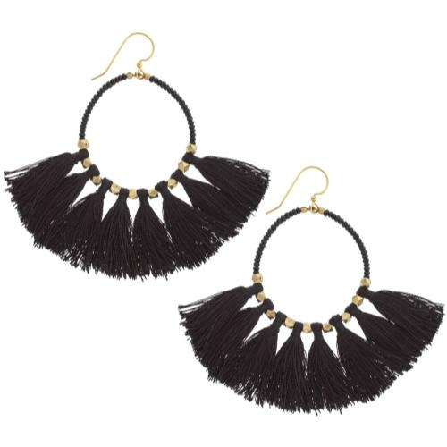 The Dreamer Earring, Black - Aid Through Trade - fairtribe