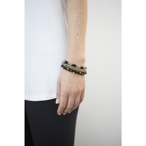Statement Roll-On Bracelets, Black Sun - Aid Through Trade - fairtribe