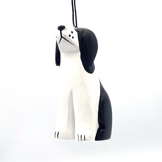 Black and White Dog | Balsa Wood Ornament | Fair Trade