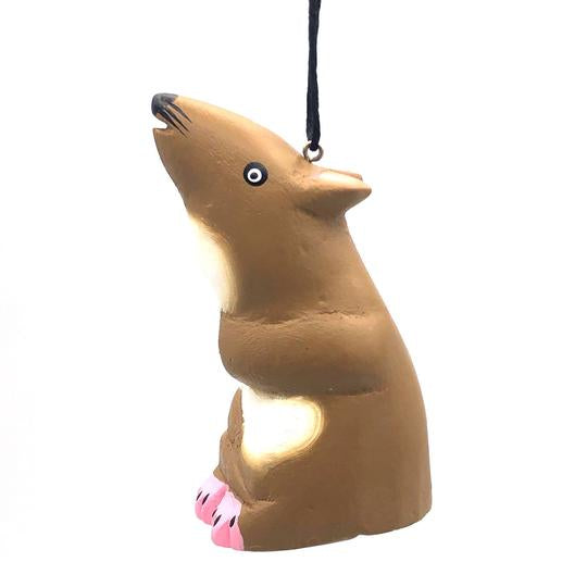 Brown Mouse | Balsa Wood Ornament | Fair Trade