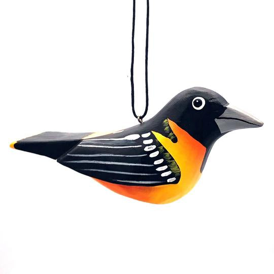 Northern Oriole | Balsa Wood Ornament | Fair Trade