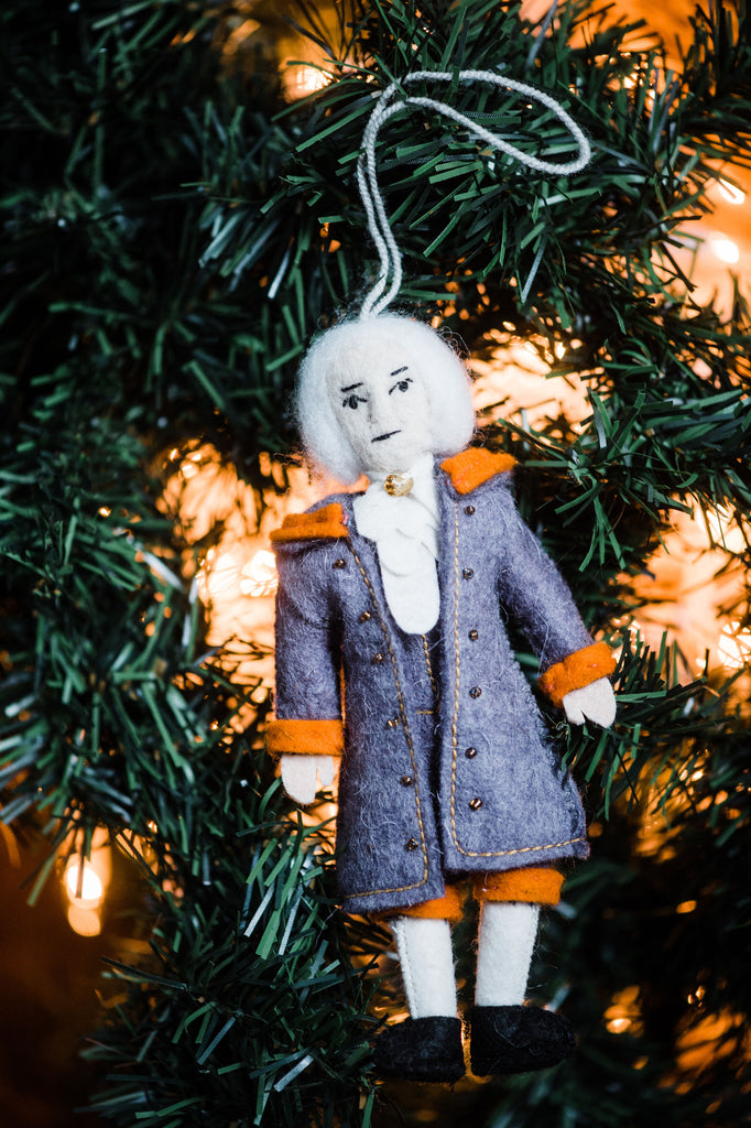 Alexander Hamilton Felt Christmas Tree Ornament - fairtribe