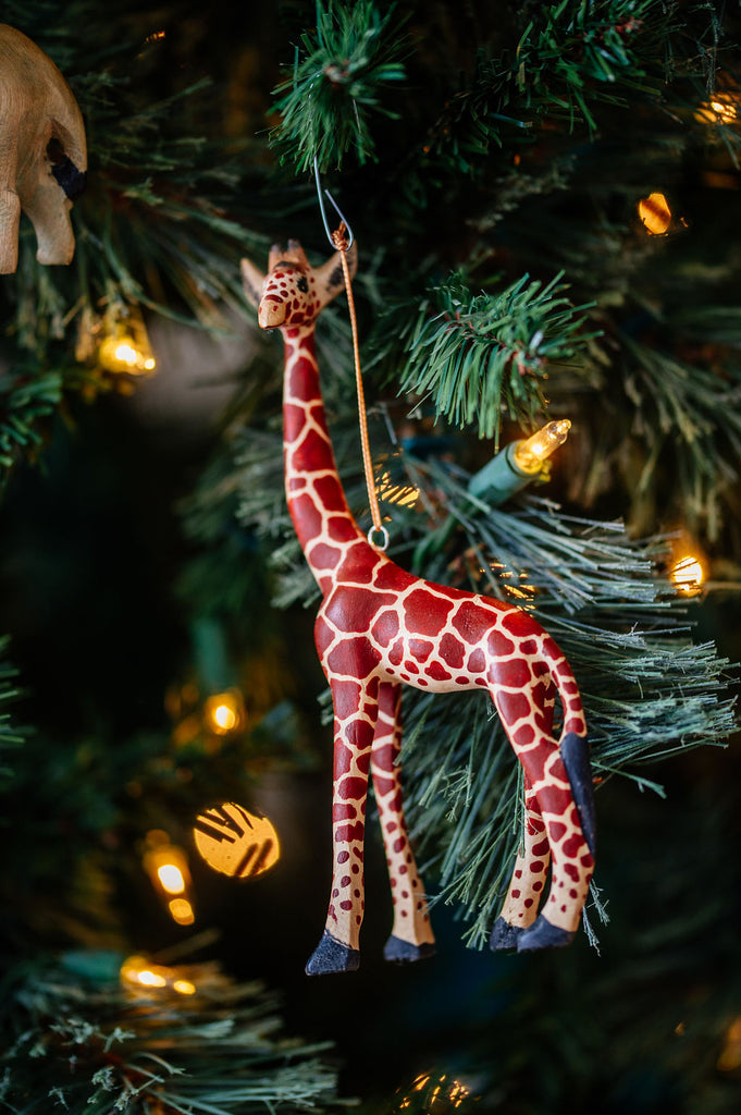 Hand-carved Giraffe Ornament