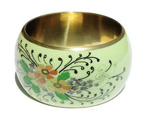 Floral Handpainted Fair Trade Bangle - fairtribe