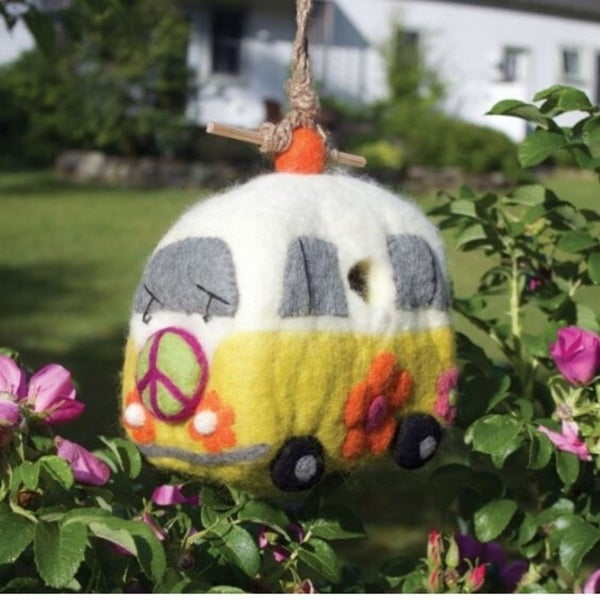 VW Hippie Bus - Felt Birdhouse