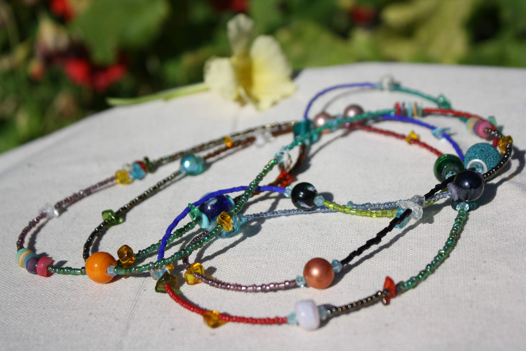 Colorful Bead Long Necklace