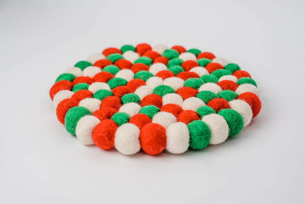 Christmas Colors | Felt Trivet