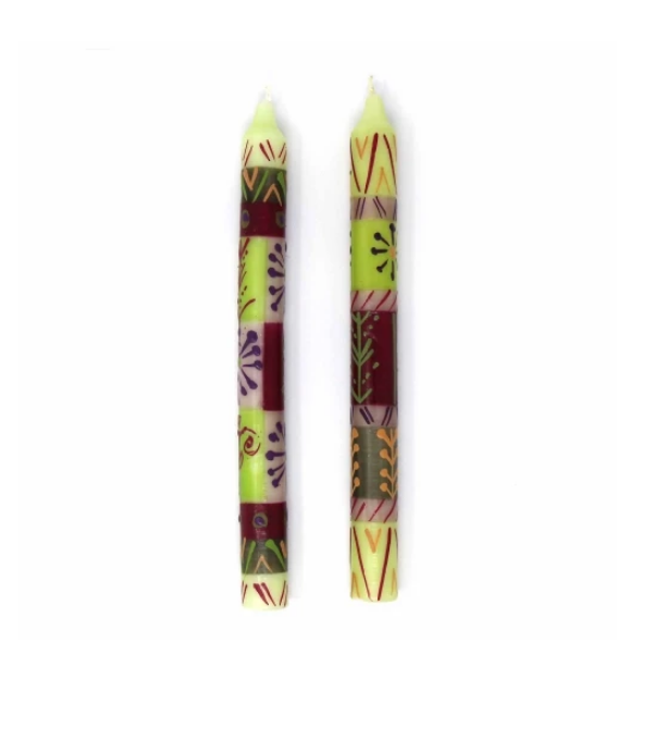 Kileo Design | Pair of Tapers | Hand Painted Candles | Nobunto