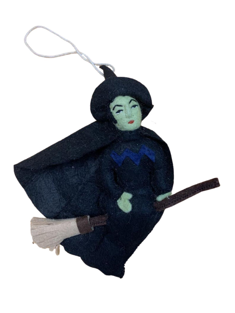 Witch on a Broom | Felt Ornament