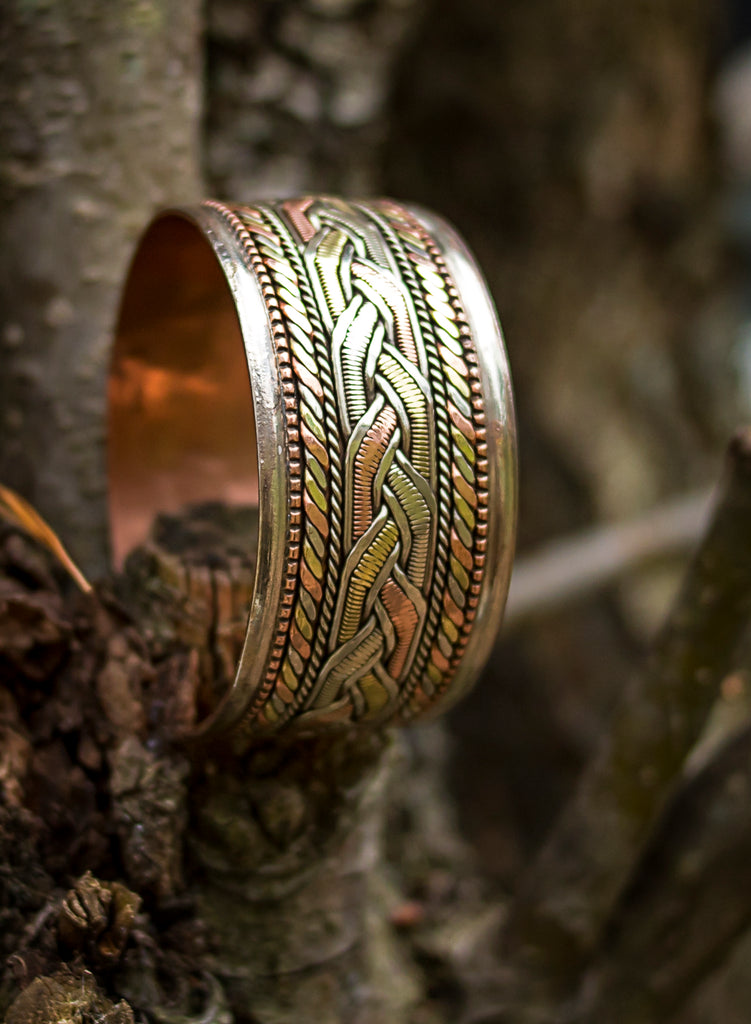 Copper and Brass Bracelet: Healing Cuff