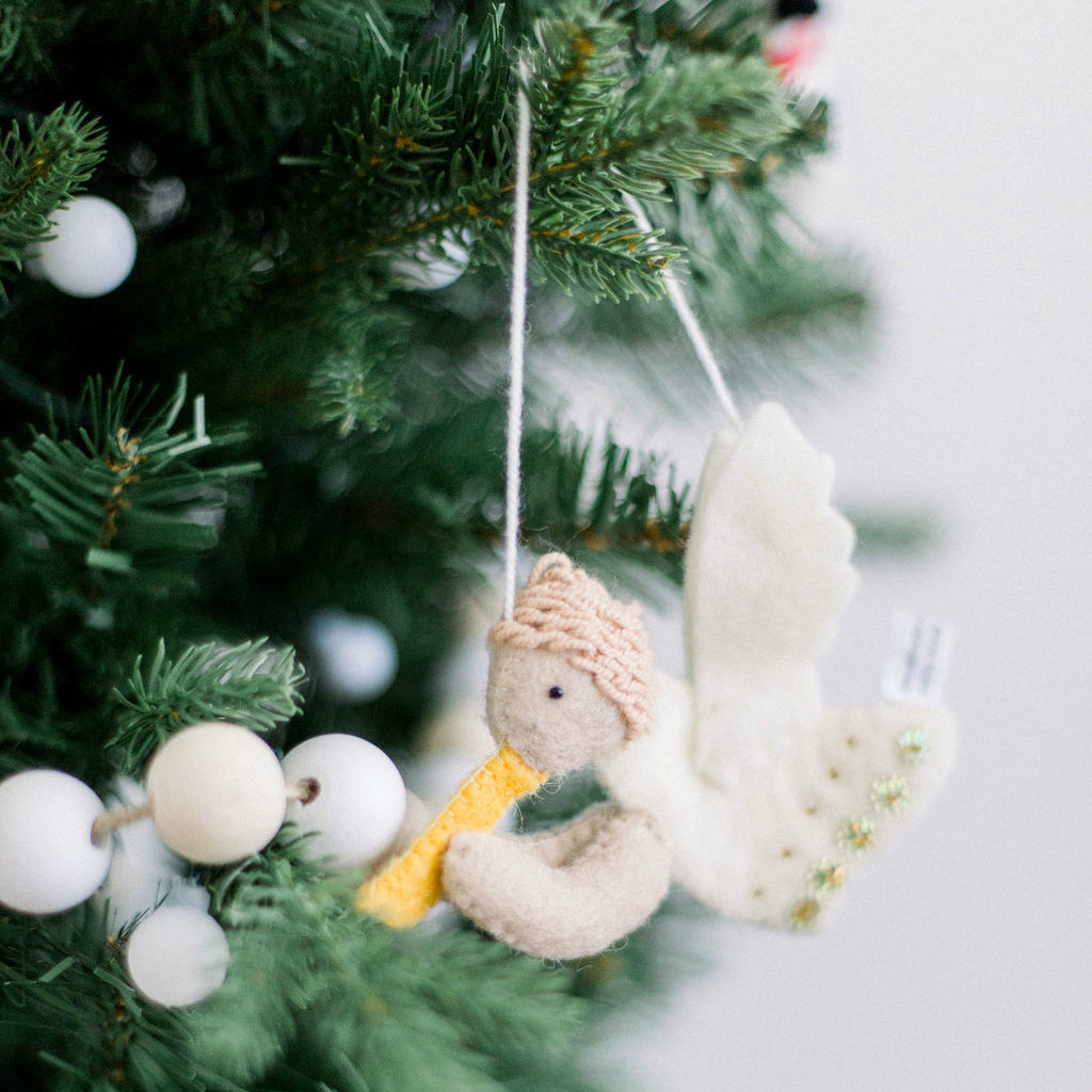 Angel Fair Trade Felt Tree Ornament - fairtribe