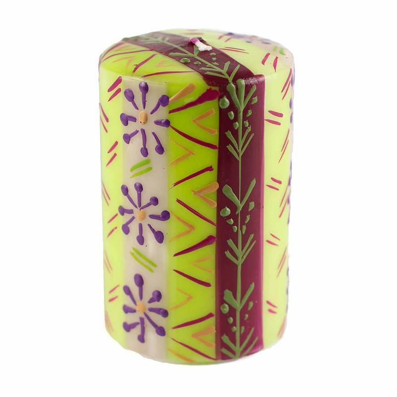 Hand Painted Candles in Kileo Design (pillar) - Nobunto - fairtribe