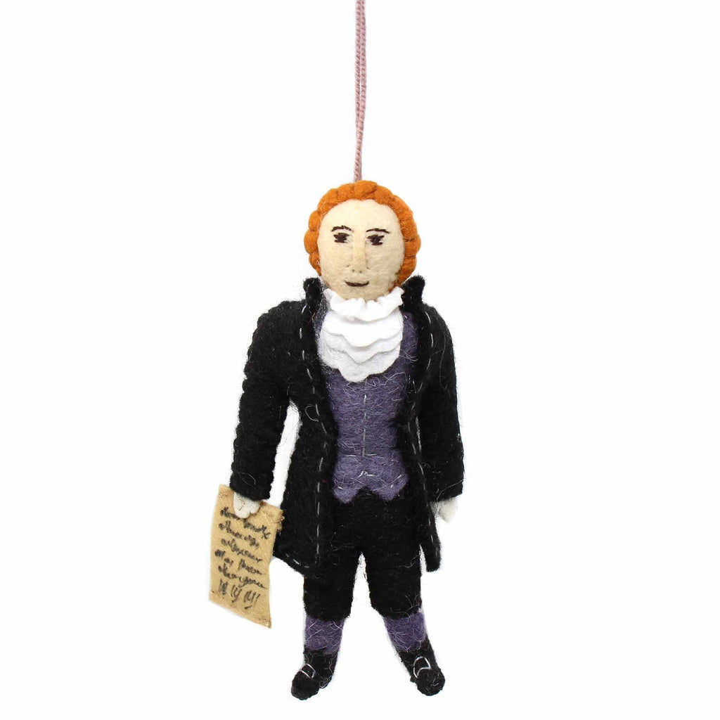 Felt Ornament: Thomas Jefferson
