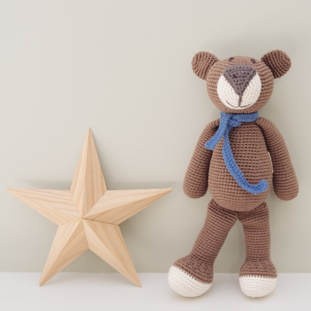 Organic Brown Teddy Bear - fairtribe