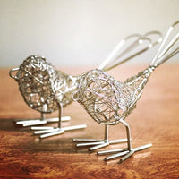 Set of Two Decorative Wire Birds
