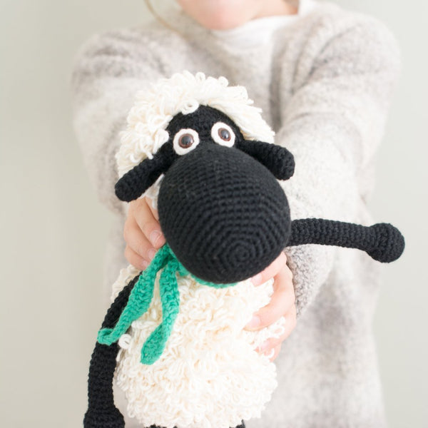 Black Handmade Sheep Stuffed Animal - fairtribe