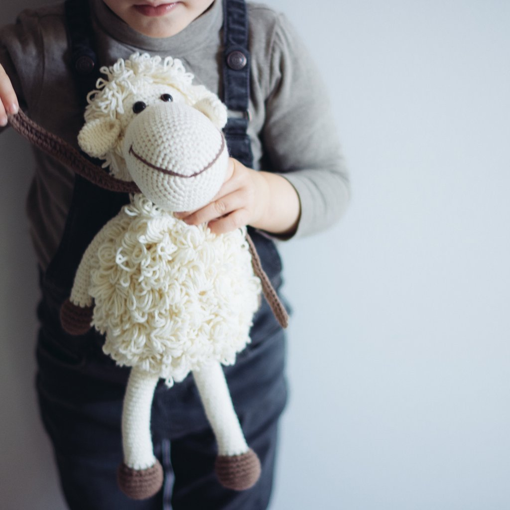 White Handmade Sheep Stuffed Animal - fairtribe