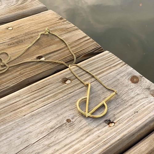 Necklace: Brass Intersect