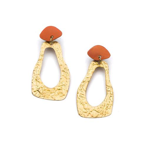 Nihira Earrings - Gold Footprint - Matr Boomie (Jewelry) - fairtribe