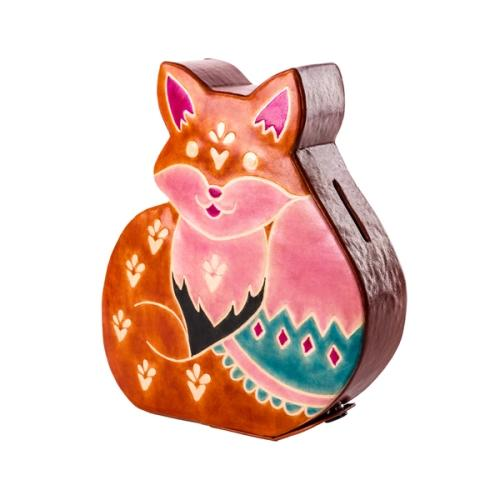 Fox Coin Bank | Leather