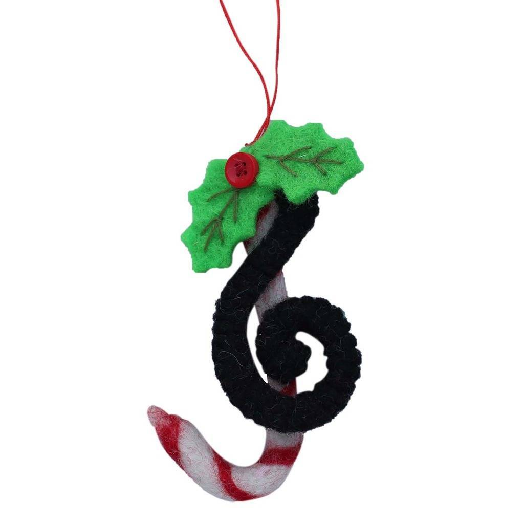 Treble Clef Felt Ornament - Global Groove (H) - fairtribe