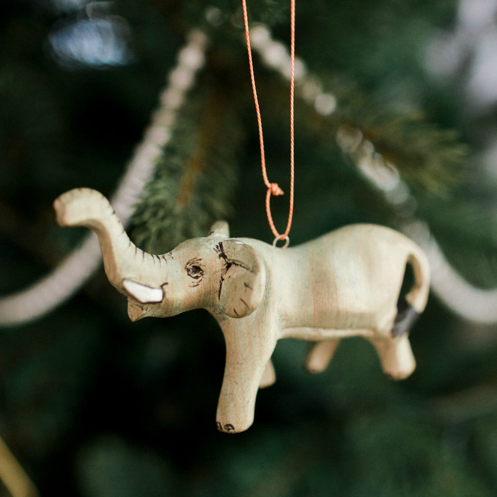 Hand-carved Elephant Ornament