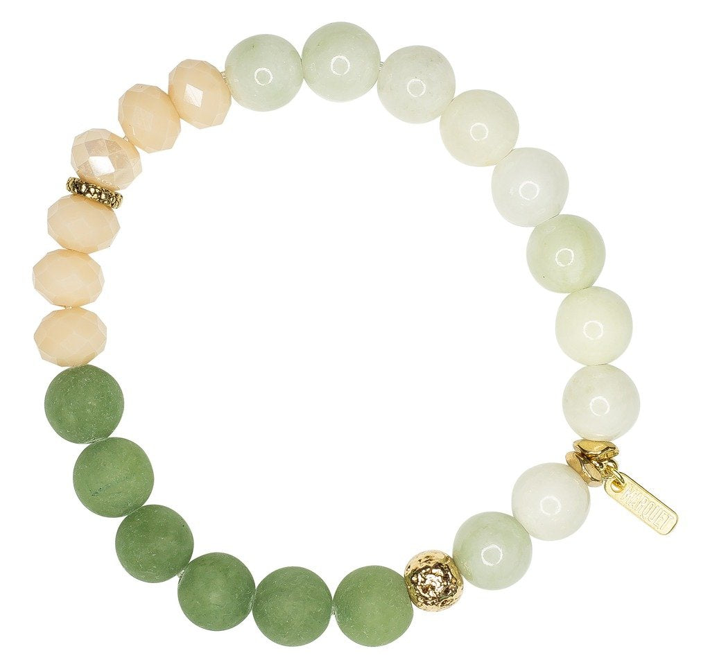 Stretch Bracelet: Molly Bitter Melon - Marquet (J) - fairtribe
