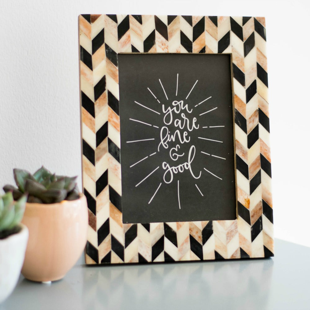 "Artemis Frame - Brown and Black 4 x 6"" - fairtribe"