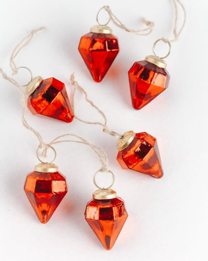 Set of 6 | Red Jewel 2"