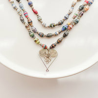 3 Strand Healing Hearts Statement Necklace