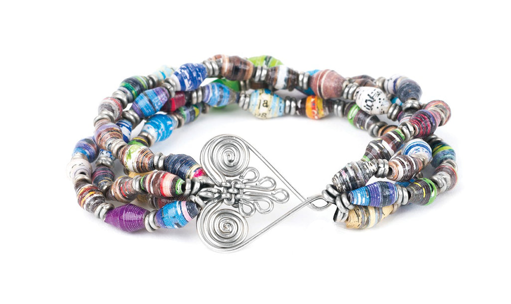 4 Strand Healing Hearts Stretch Bracelet - fairtribe